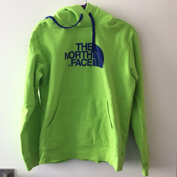 The North Face Shirts North Face Neon Green Sweatshirt Poshmark